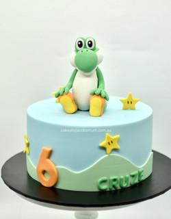 Yoshi Mario Bros birthday cake