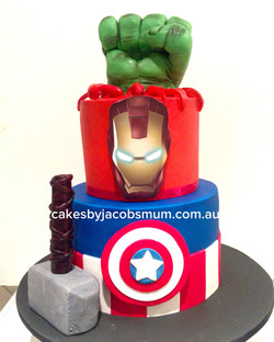 Avengers Super Hero Birthday Cake