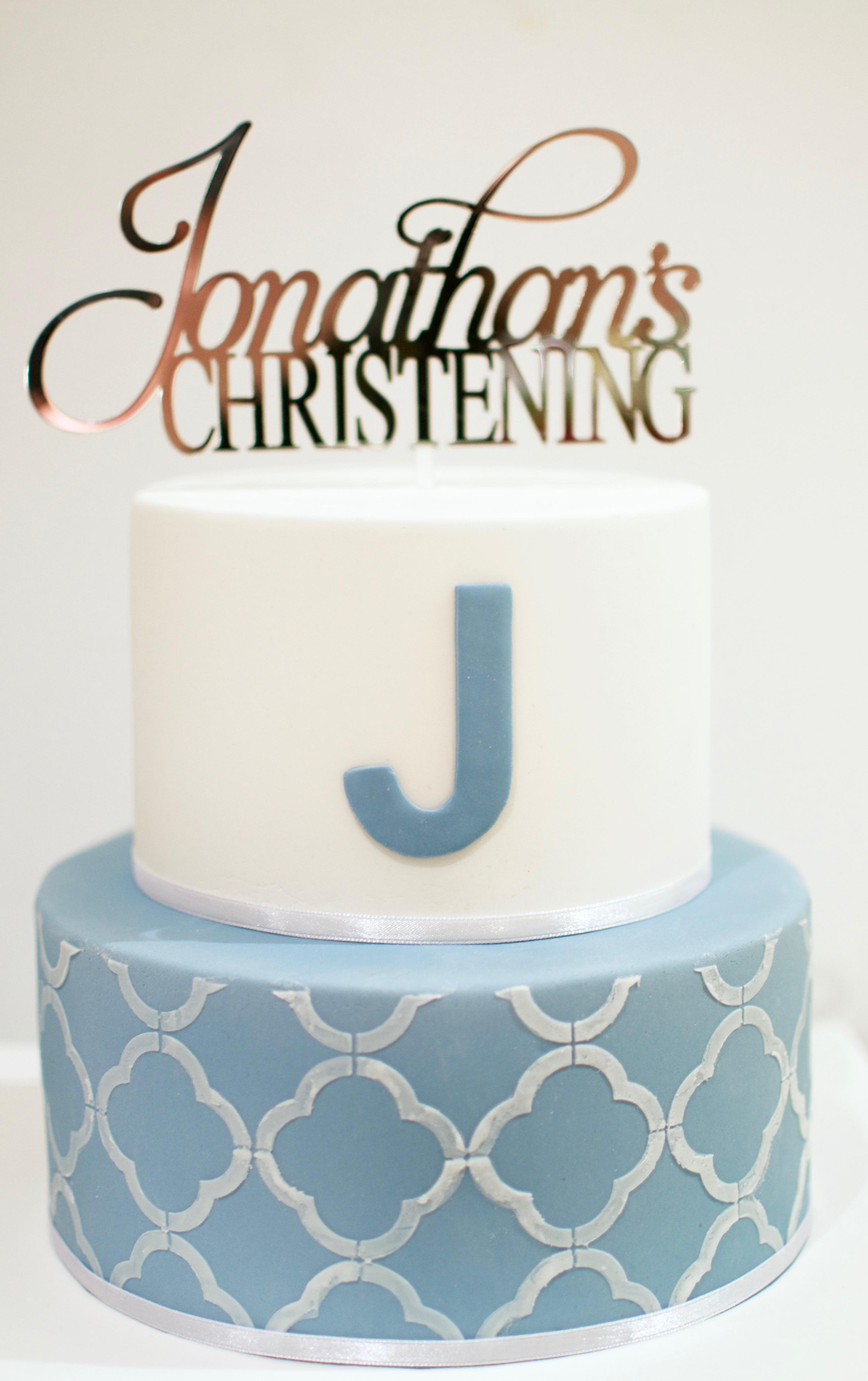 Christening Baptismal Cake