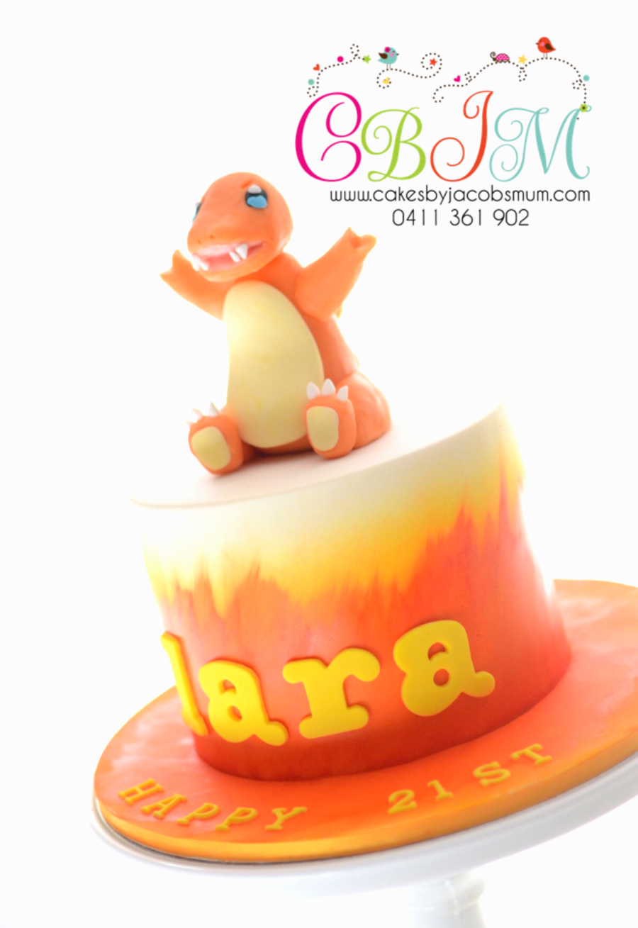 Charmander Pokemon Birthday Cake