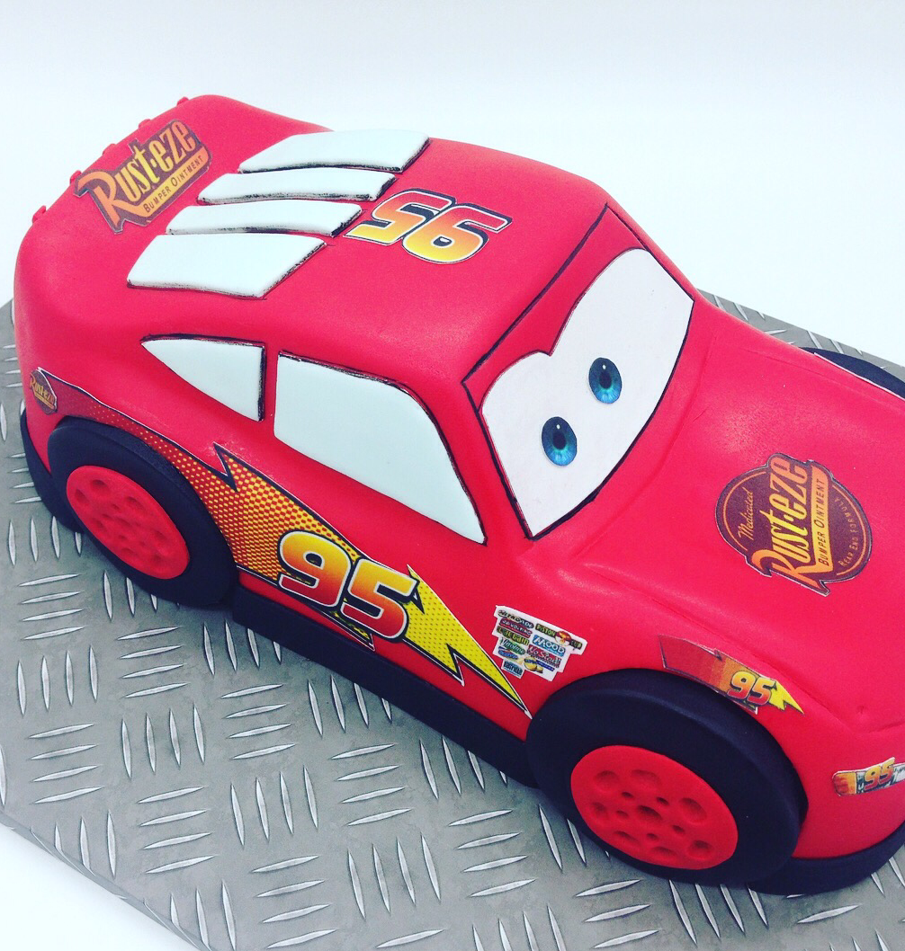 3D Lightning McQueen Car Cake