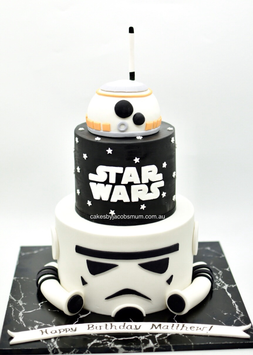 Star Wars BB-8 Storm Trooper birthday ca