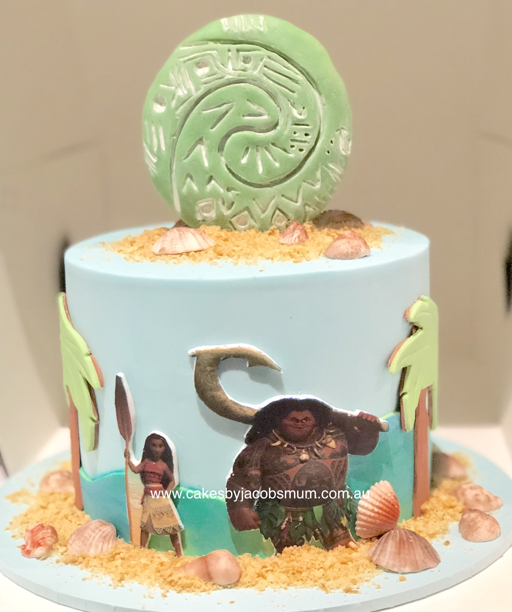 Moana Maui Heart of Te Fiti Cake