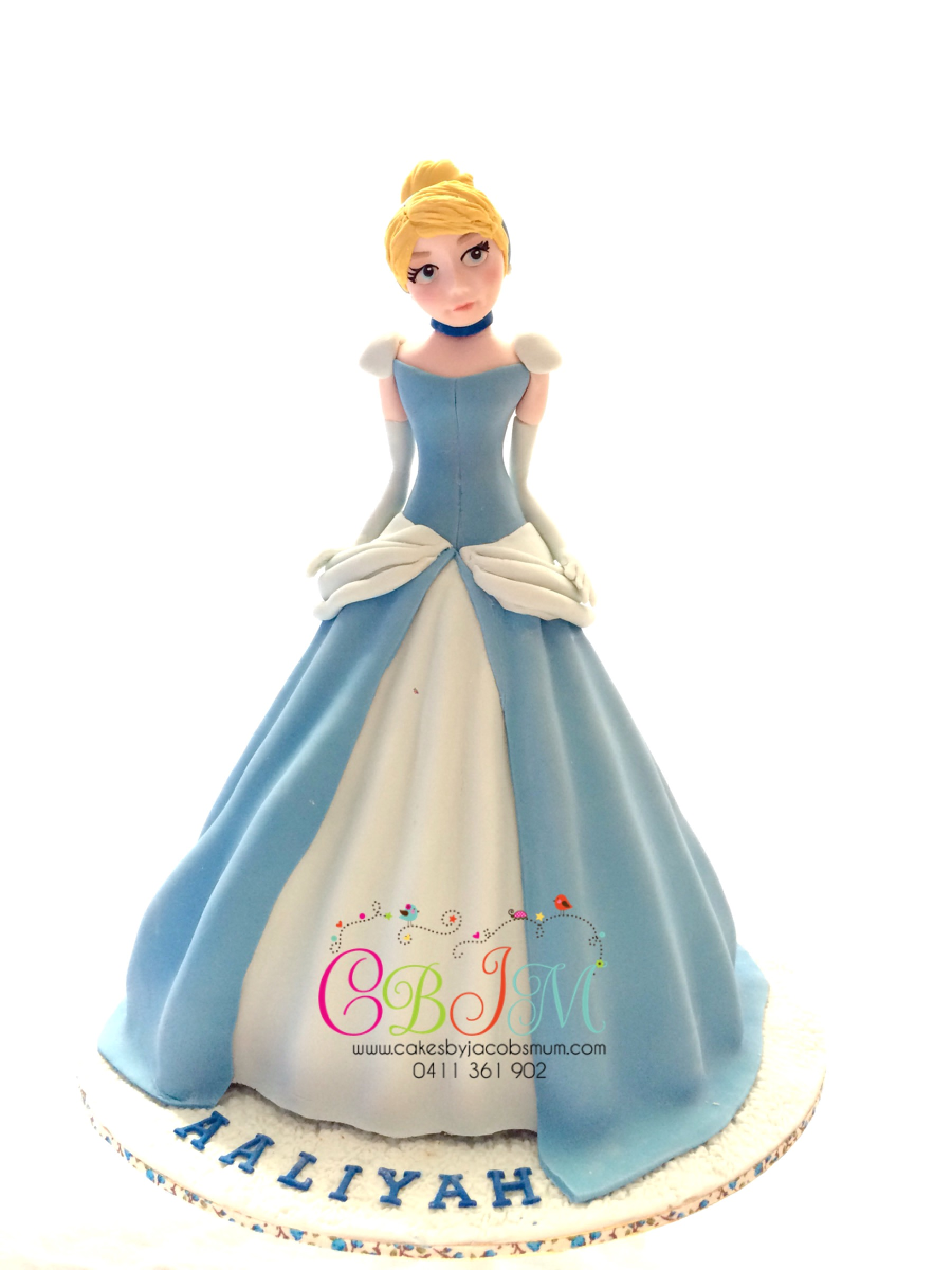 Princess Cinderella Doll Cake