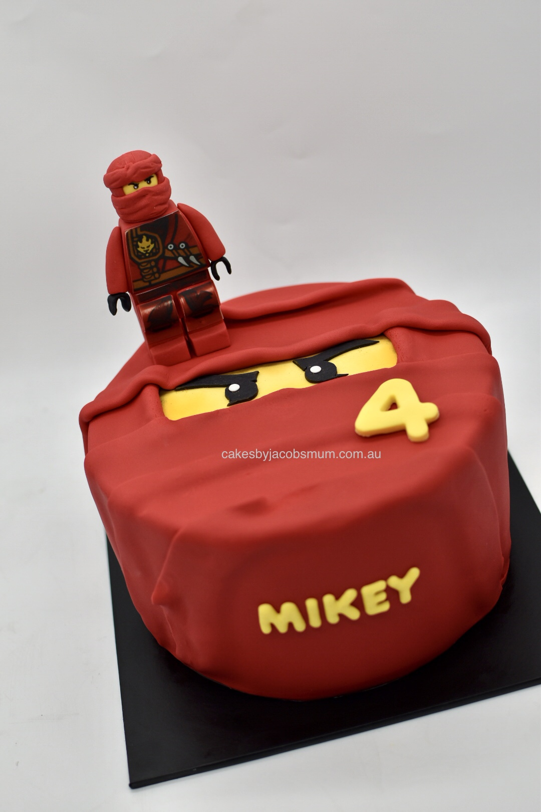 Red Ninjago Lego birthday cake