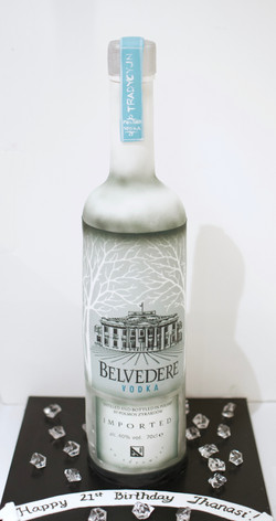 Belvedere Vodka 3D bottle standing cake