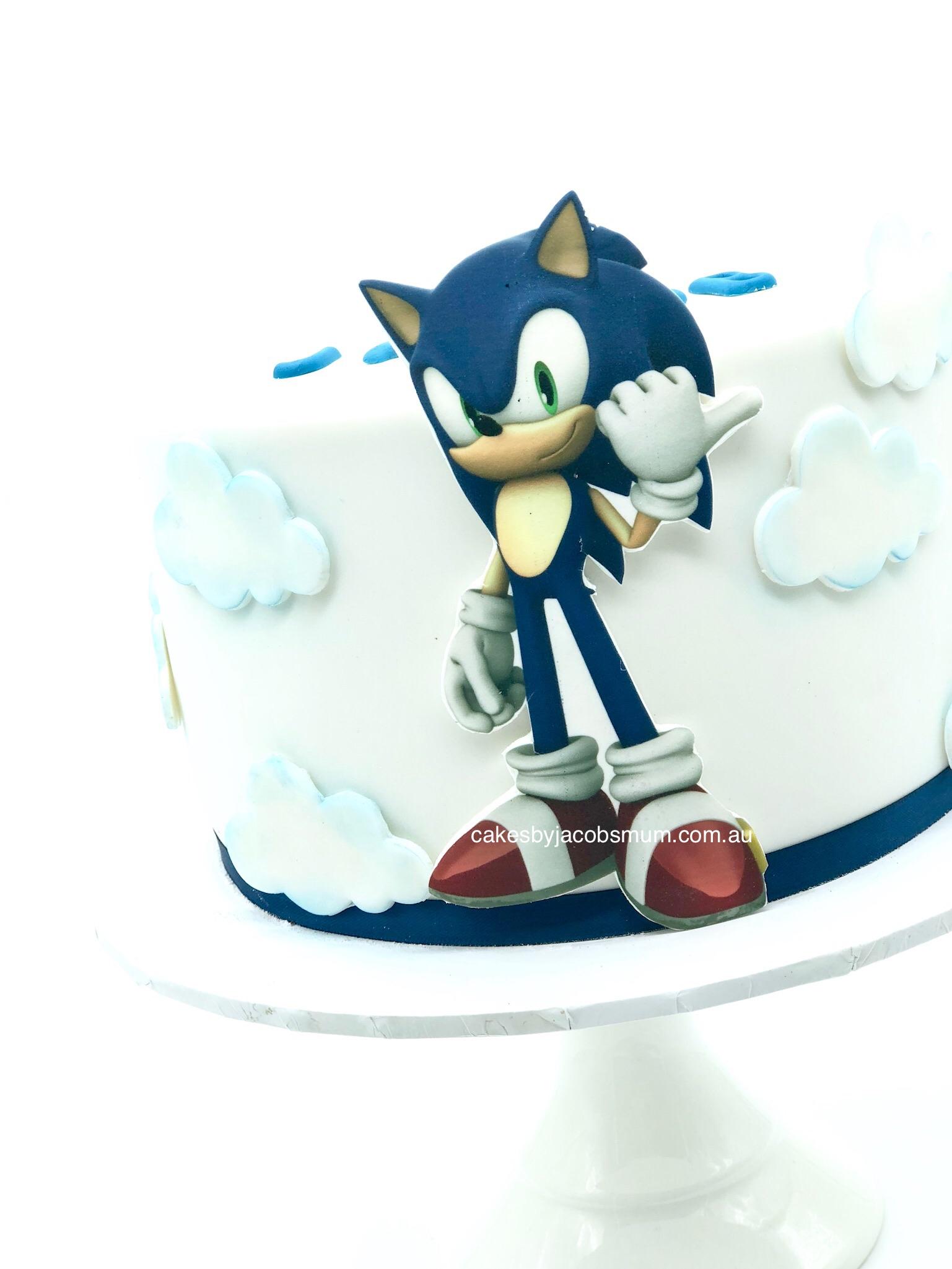 Sonic birthday cake