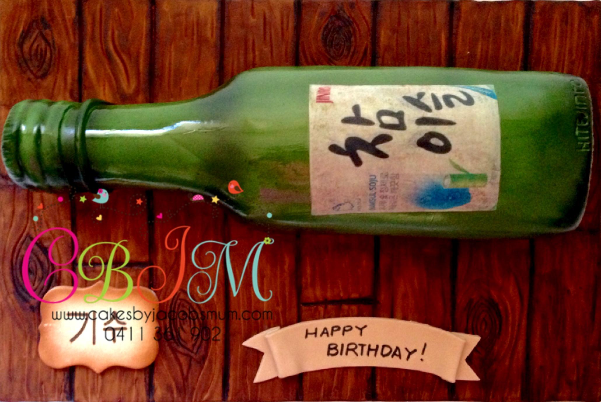 Soju Bottle cake