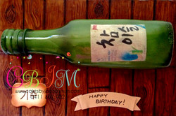 Soju Bottle cake