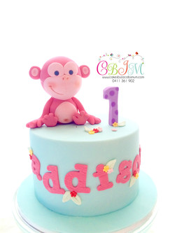 Cute Pastel Colours Monkey Cake