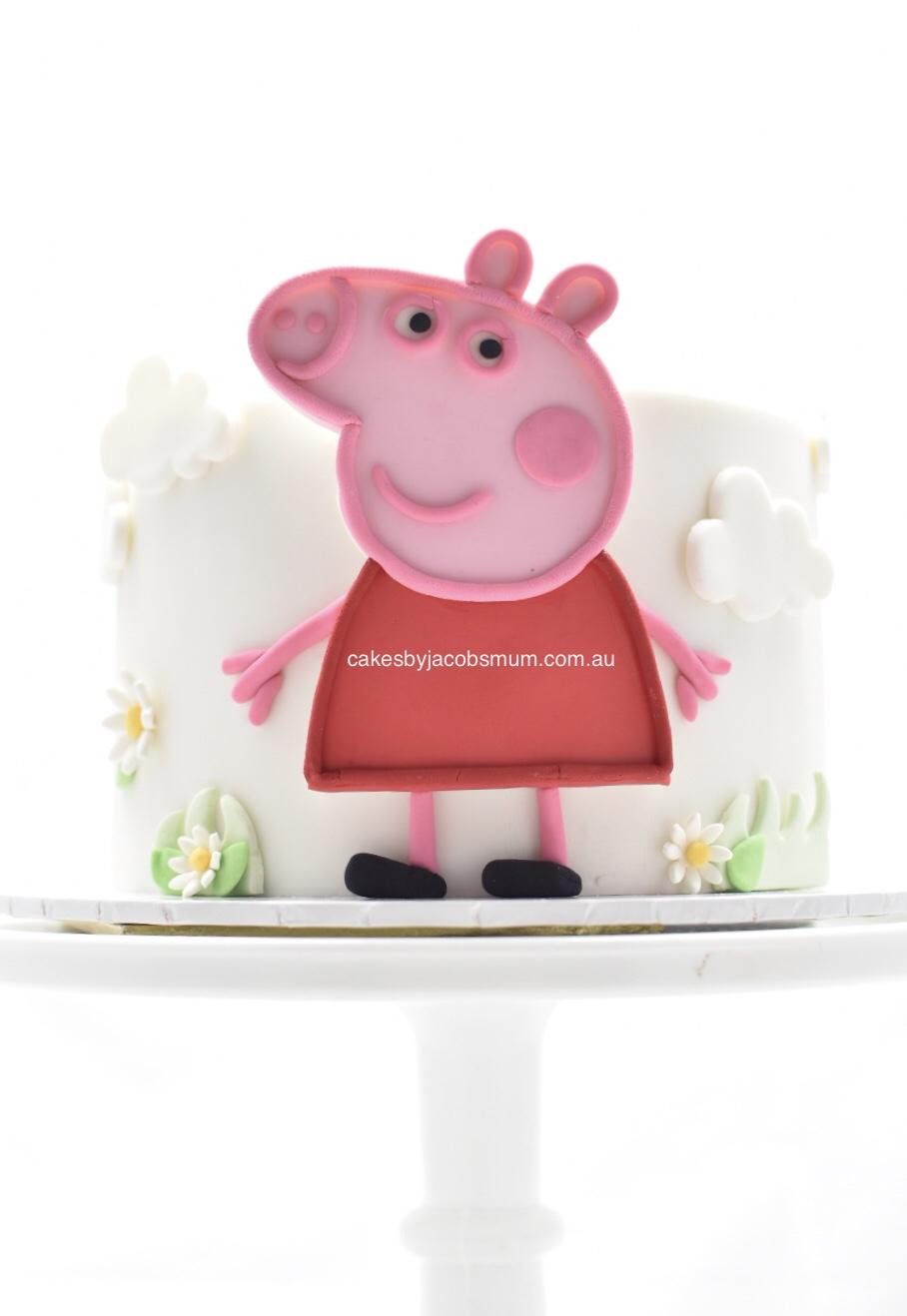 peppa pig fondant birthday cake