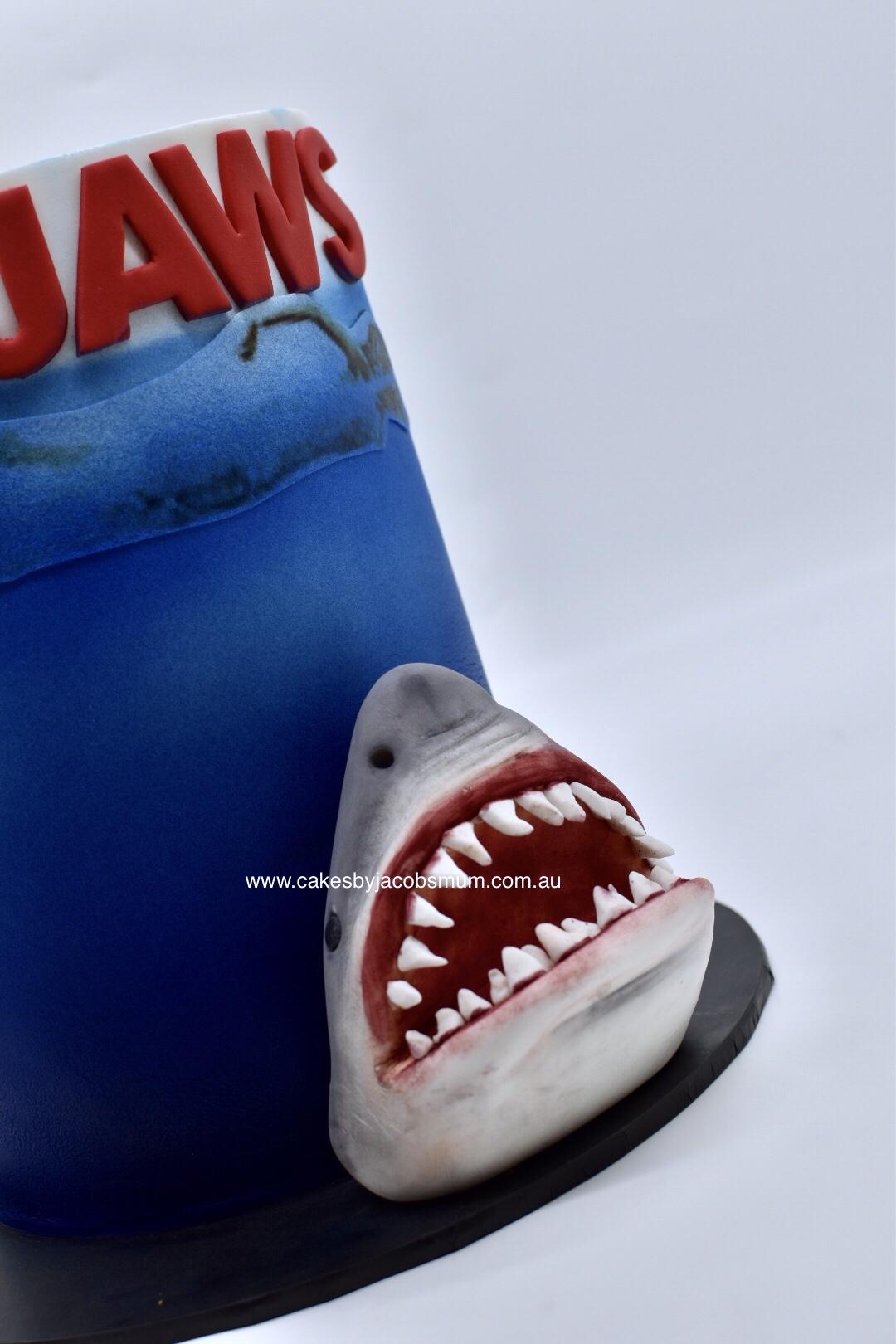 Jaws Shark birthday cake