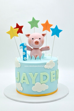 First birthday cake Little Piggy