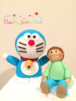 Doraemon and boy birthday cake