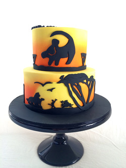 Lion King Silhouette Cake Sydney
