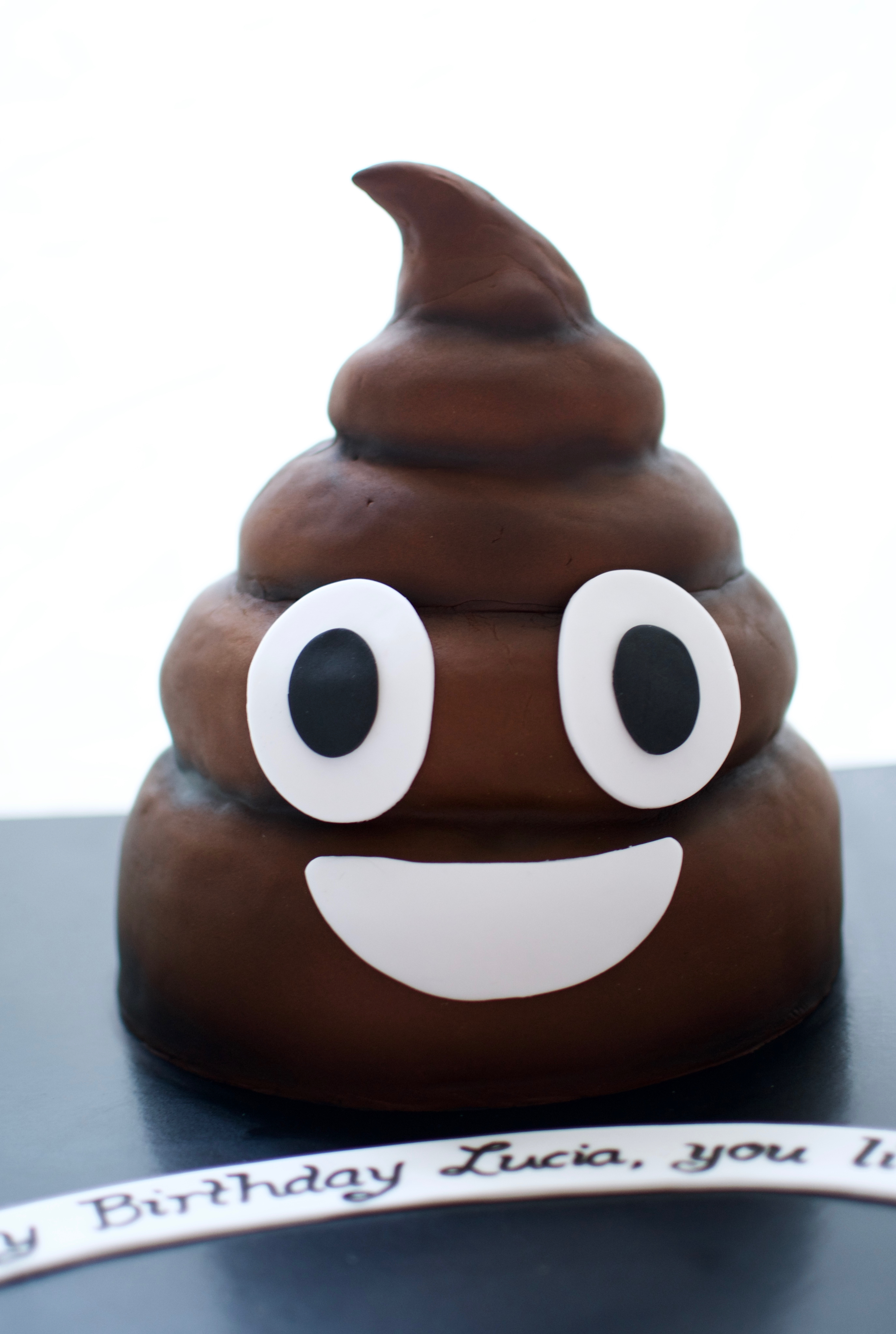 Poo Emoji Cake