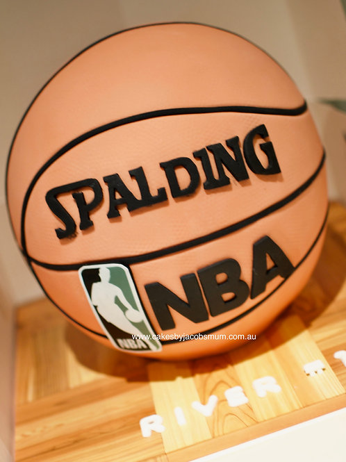 3D NBA Basketball Spalding Sphere birthday cake