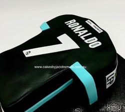 Ronaldo Soccer Football Jersey cake