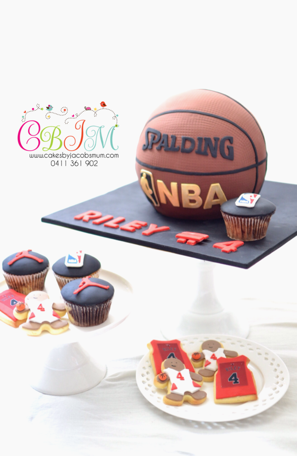 3D Basketball Cake, cupcakes,cookies