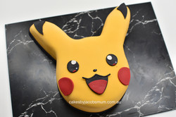 Pikachu pokemon birthday cake