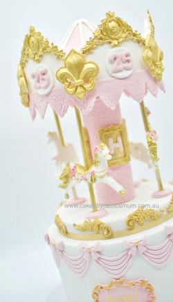 Carousel horse unicorn cake