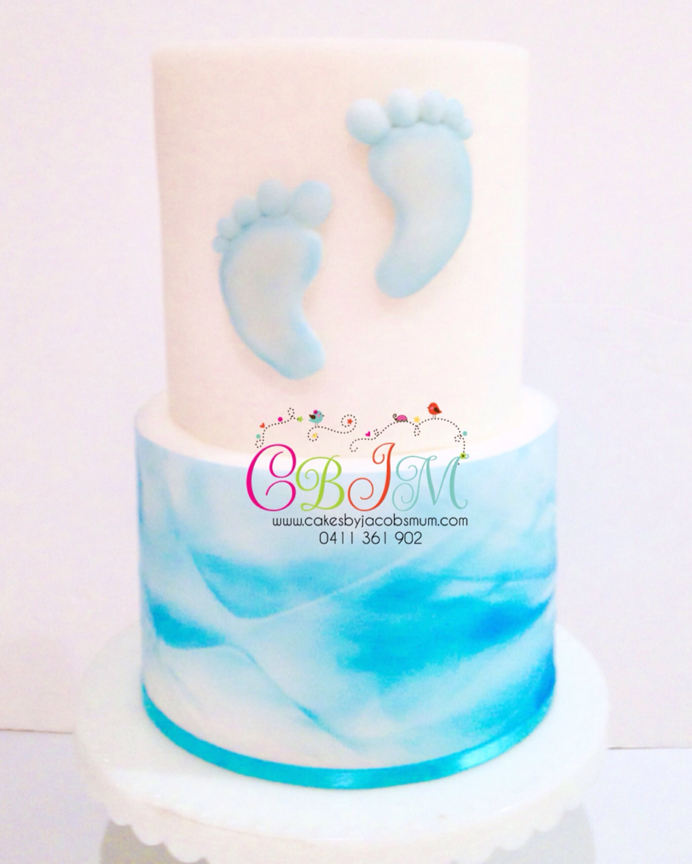 Christening Baby Shower Cake