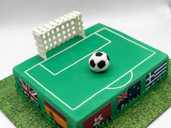 World Cup Soccer birthday cake