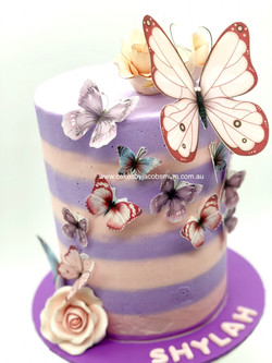 Butterfly buttercream cake