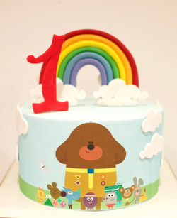 Hey Dugee first birthday cake