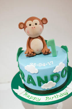 Cheeky Monkey boy's cake