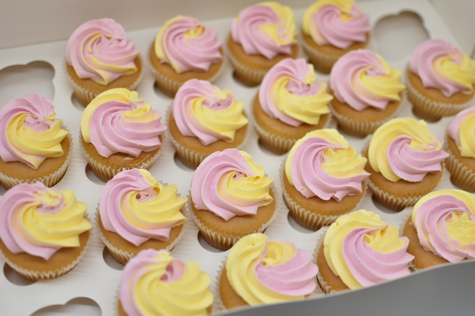 yellow and pink buttercream birthday emm
