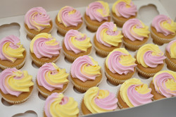 yellow and pink buttercream birthday emm