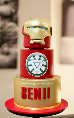 Iron Man Avengers Superhero Birthday Cake