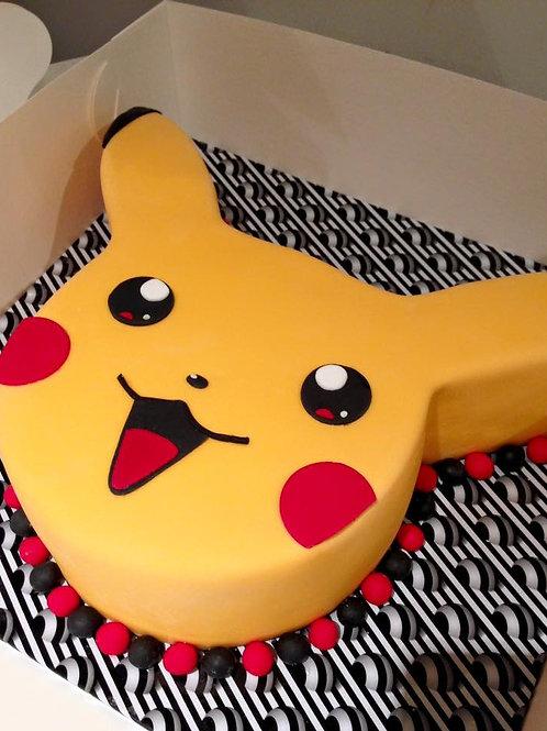 Pikachu Face Pokemon Birthday Cake