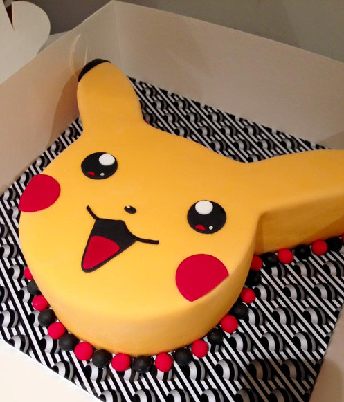 Pikachu Face Pokemon Birthday Cake
