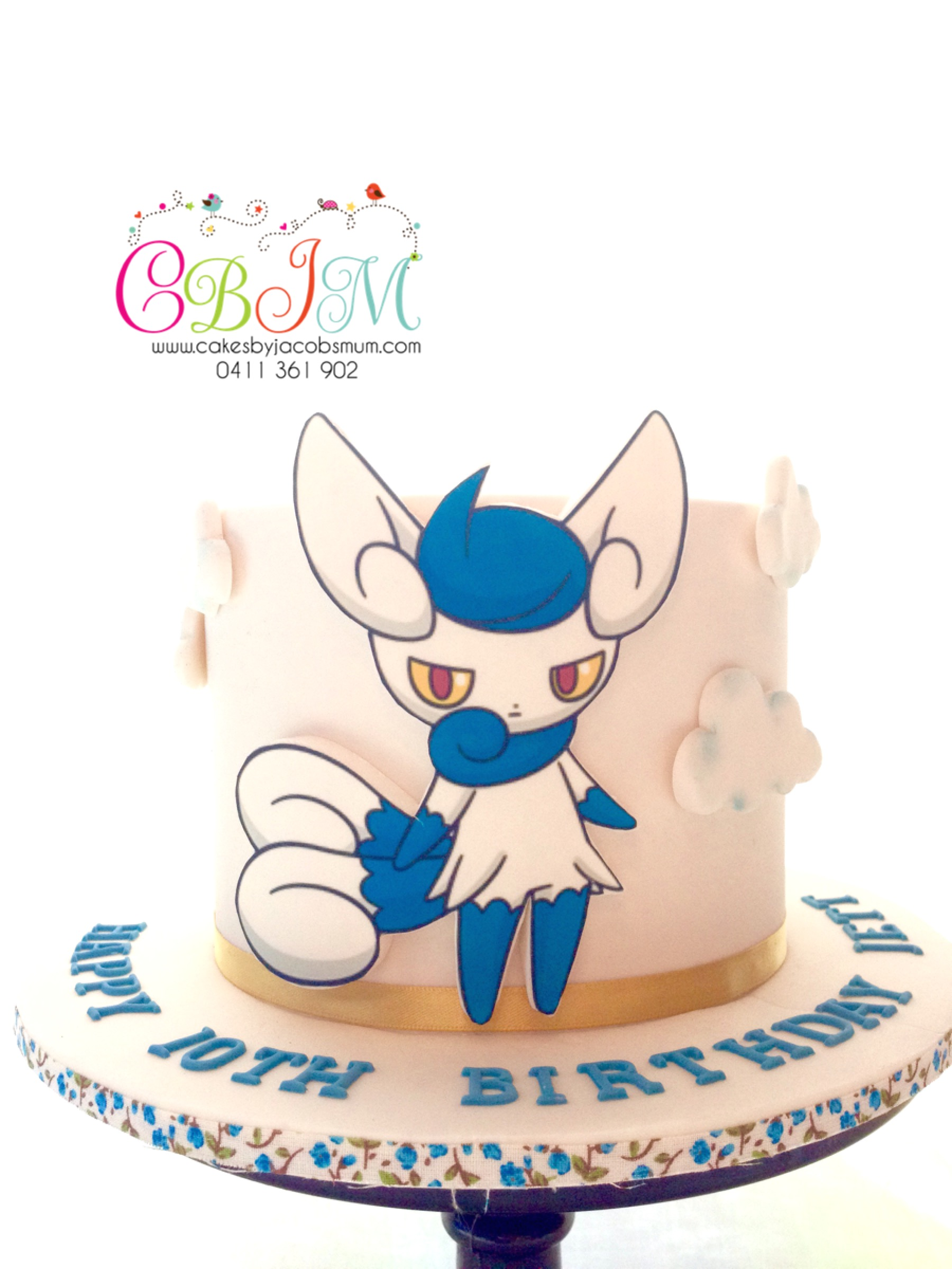 Meowstic Pokemon Cake