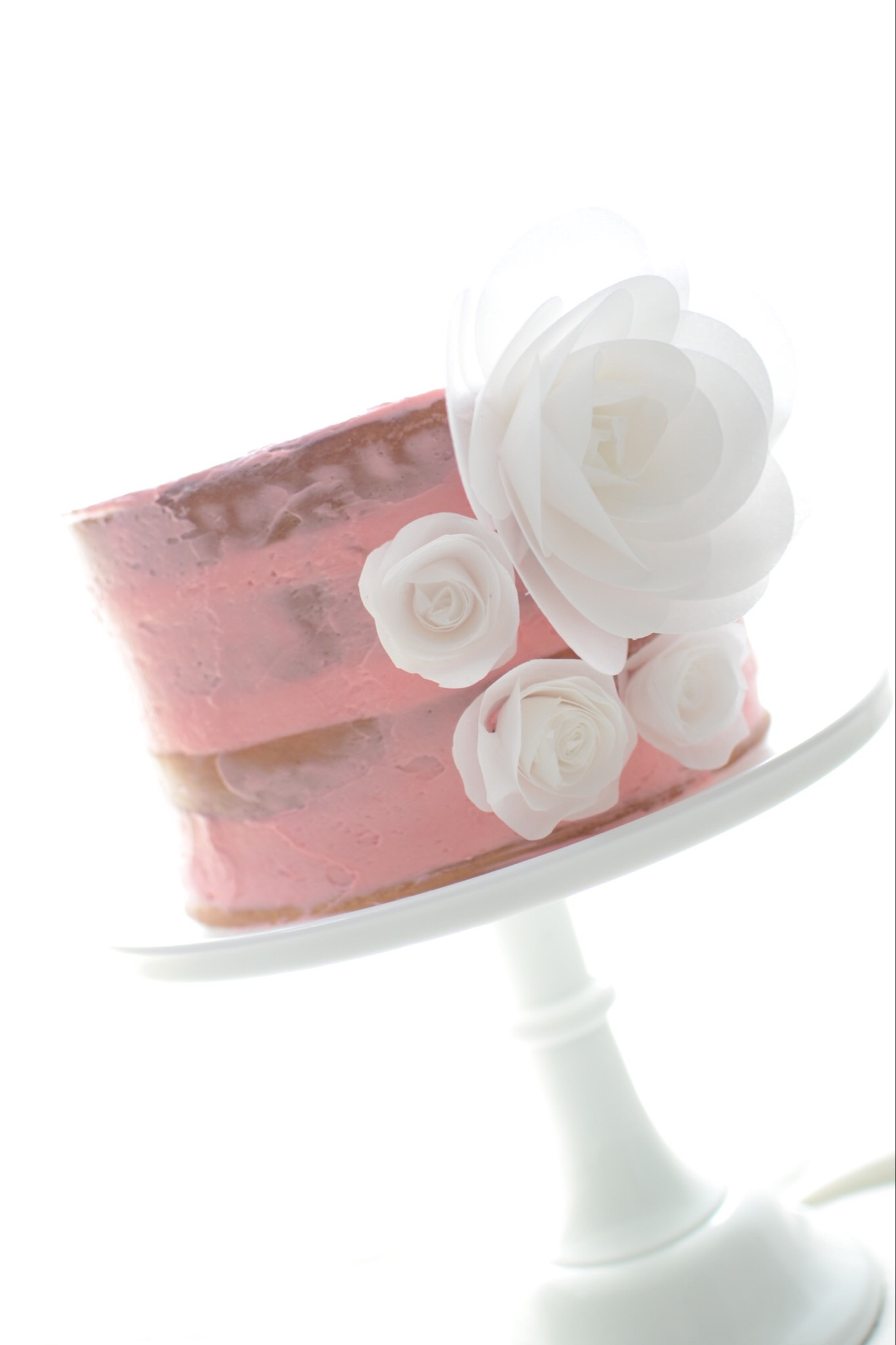Simple Buttercream Cake with Flower