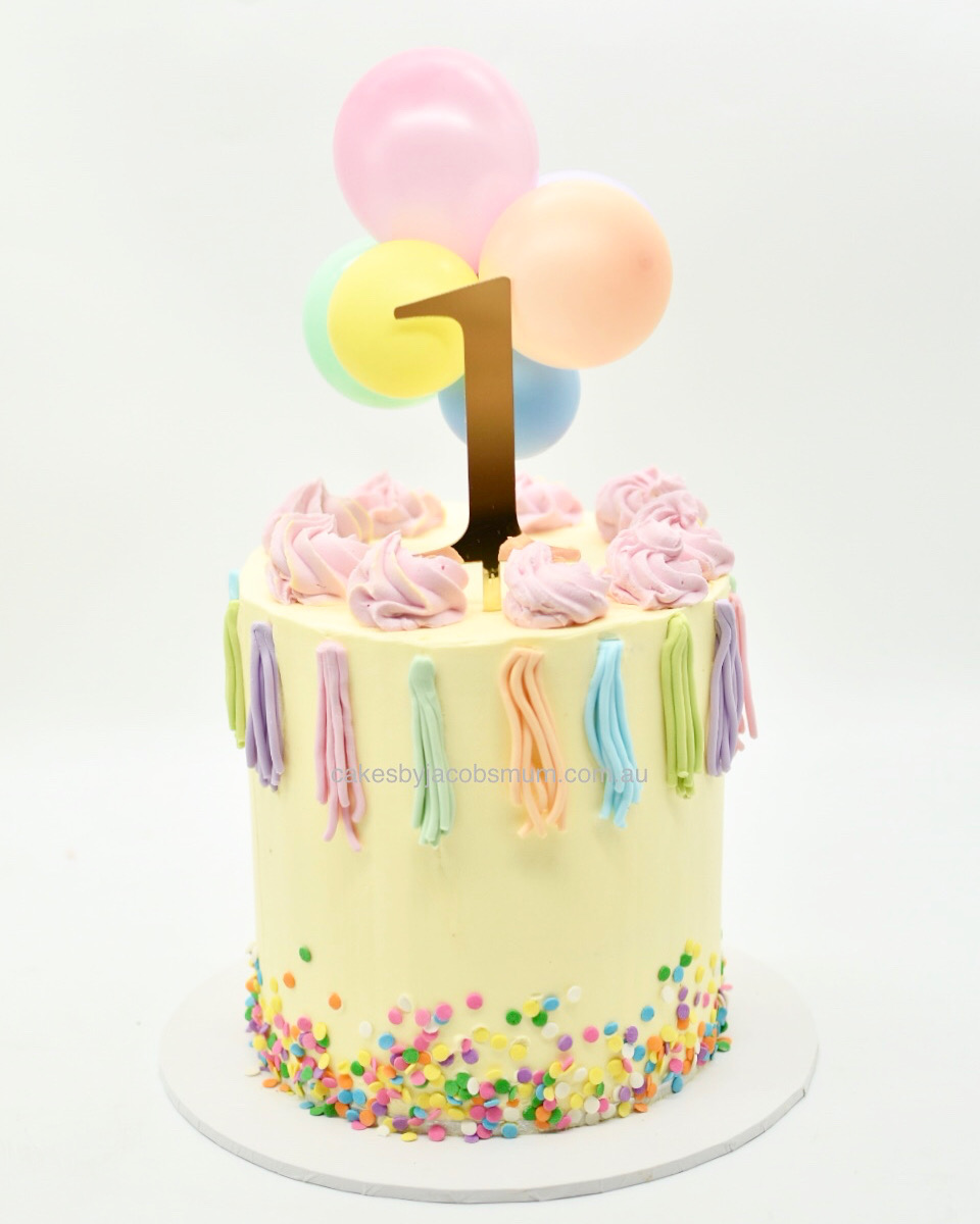 party buttercream balloon birthday celeb