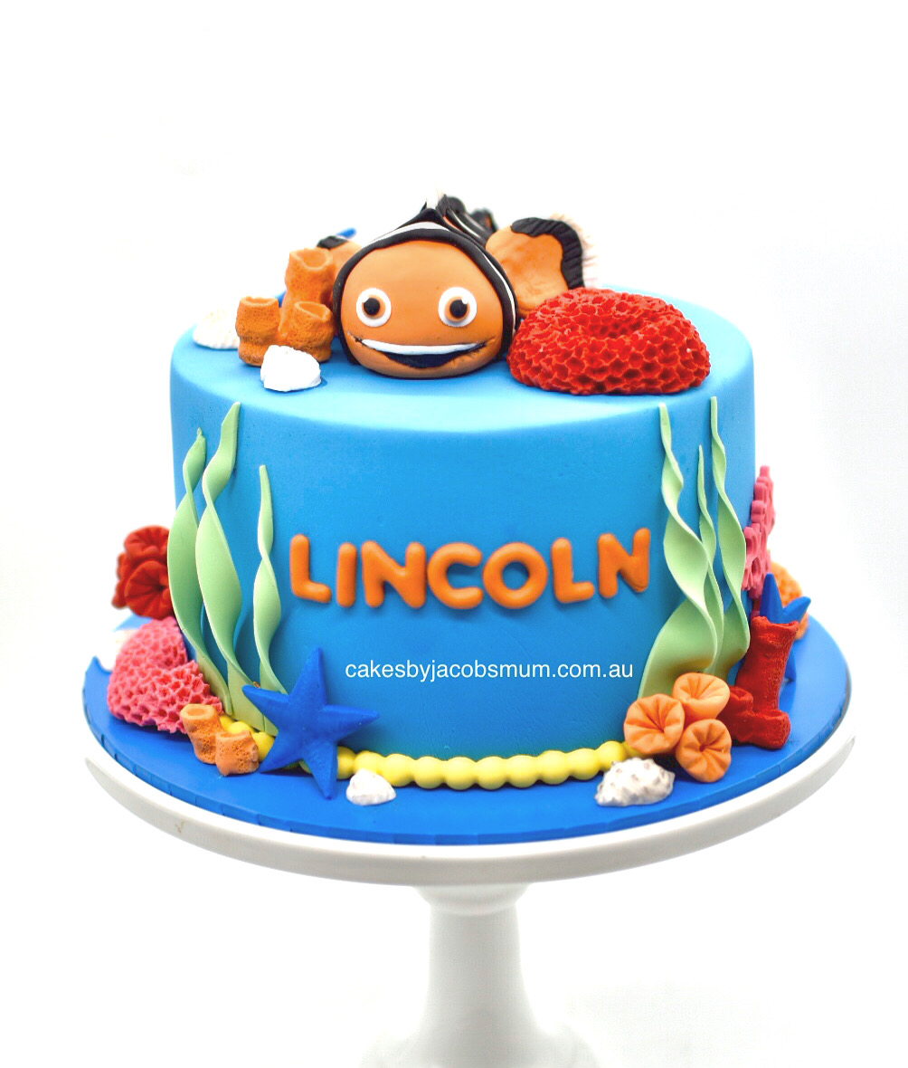 nemo under the sea corals birthday cake