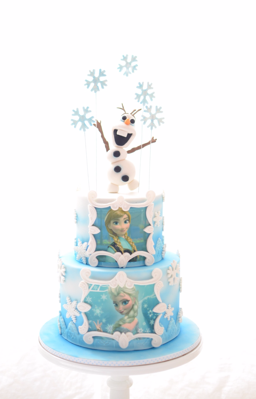 Olaf Frozen Inspired Cake