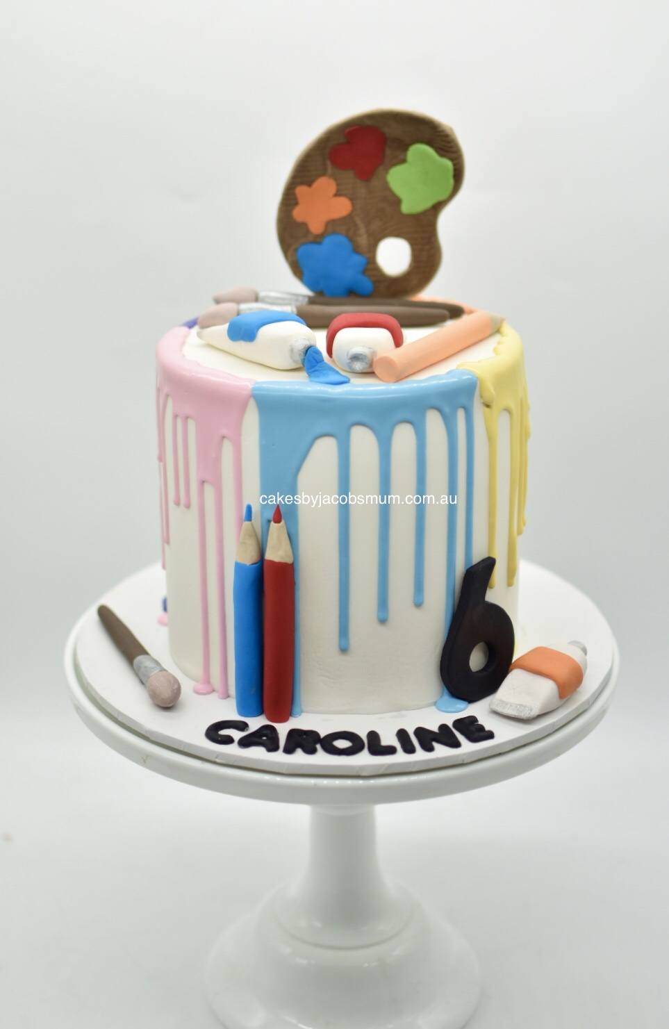 art painting artist birthday cake
