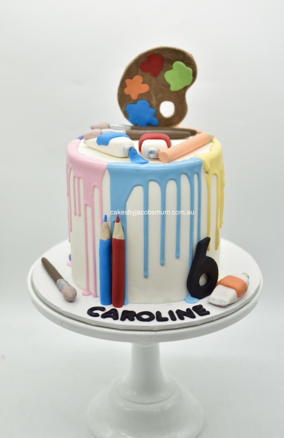 art painting artist birthday cake