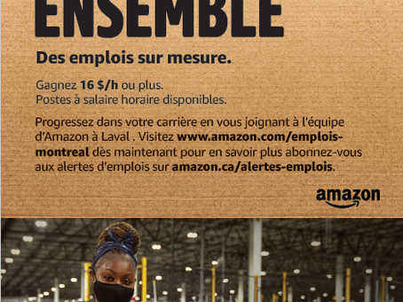 Amazon est en recrutement !