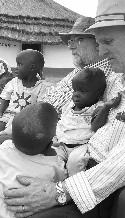 John Fryter's and Wiegand with african children
