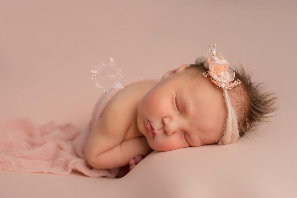 peach taco newborn pose