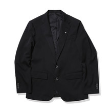 SINGLE-BREASTED JACKET-Black
