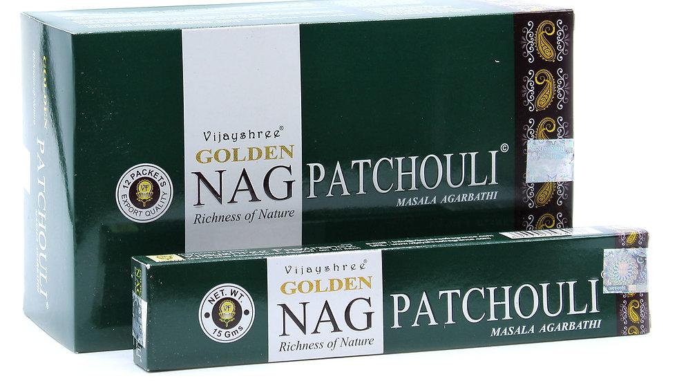 15g Golden Nag - Pathouli Incense