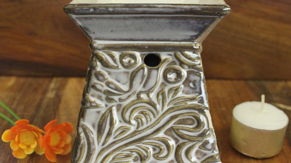 Venetian Square Scroll Design Oil Burner