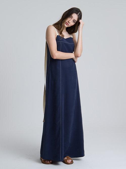 Vestido Kota Azul Marinho