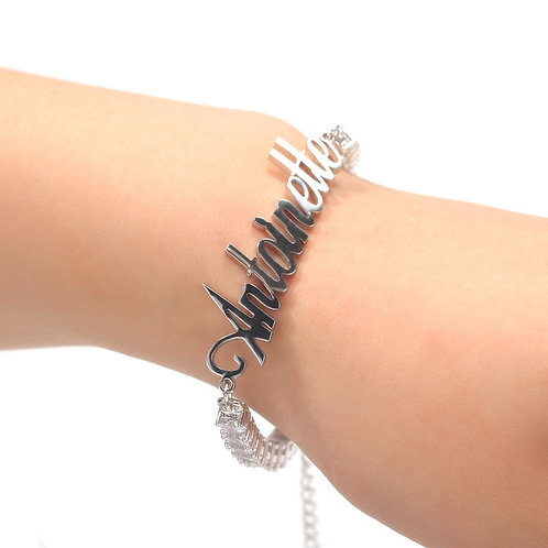 Gold Chain Stainless Steel Art Font Plated Ankle Luxury Cuban Chain Jewelry
